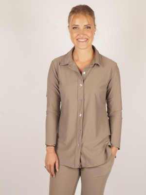 travel blouse beige